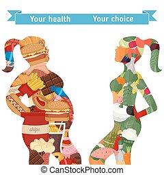 Un estilo de vida saludable y poco saludable
