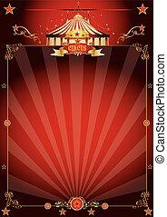 Un fantástico póster de circo rojo mágico