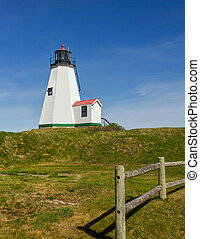 Un faro de Plymouth en Massachusetts