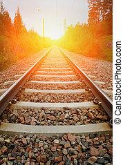 Un ferrocarril antiguo