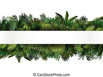 Un follaje tropical. Diseño floral