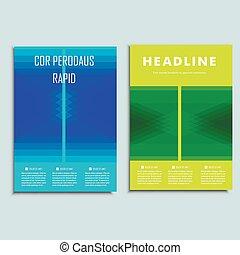 Un folleto abstracto moderno. Diseño de vectores