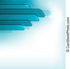 Un folleto azul moderno