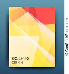 Un folleto de folletos de folletos de folletos o diseño de carteles corporativos