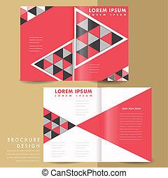 Un folleto de medio pliegue geométrico moderno