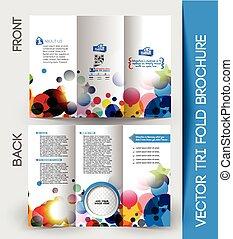 Un folleto de negocios corporativo