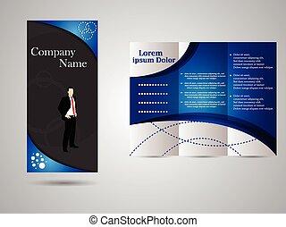Un folleto de negocios triple