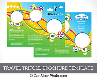 Un folleto de viajes abstractos