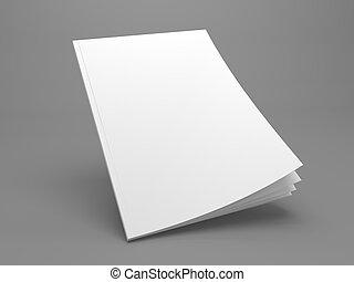 Un folleto en blanco o una ilustración 3D en gris para tu diseño.