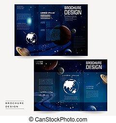 Un folleto tri-plicado del universo