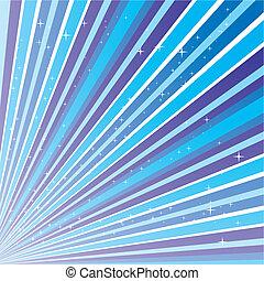 Un fondo abstracto azul con rayas y estrellas, ilustración vector 10.0