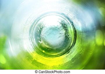 Un fondo abstracto azul y verde