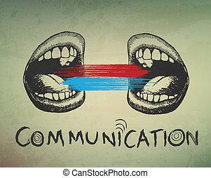 Un fondo abstracto. Comunicación