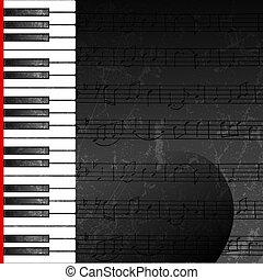 Un fondo abstracto con llaves de piano