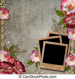 Un fondo abstracto con rosas