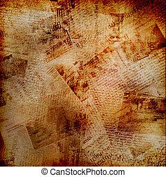 Un fondo abstracto con un viejo periódico