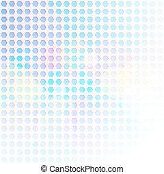 Un fondo abstracto de hexagon azul