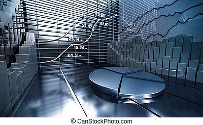 Un fondo abstracto de mercado de valores