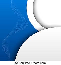 Un fondo abstracto del 3D azul