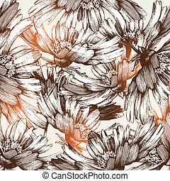 Un fondo abstracto floral, mano Dr
