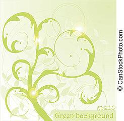 Un fondo abstracto verde