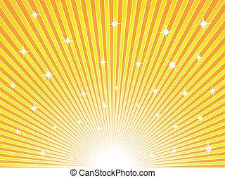 Un fondo amarillo y naranja soleado