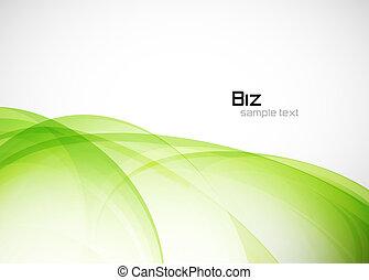 Un fondo ambiental abstracto verde