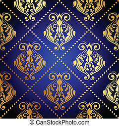 Un fondo azul con oro de lujo o