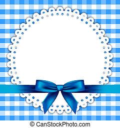 Un fondo azul con servilleta