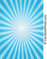 Un fondo azul de rayos solares