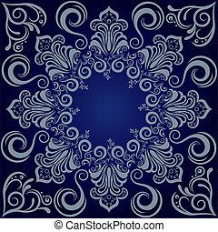 Un fondo azul mandarla