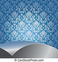 Un fondo azul y plateado