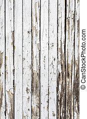 Un fondo blanco de madera natural