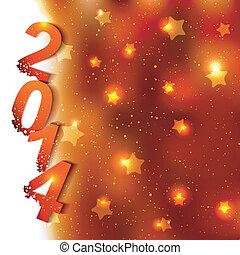 Un fondo brillante de año nuevo