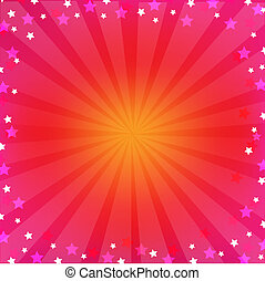 Un fondo colorido rosado con soleado