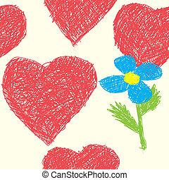 Un fondo con corazones como imagen de bebé