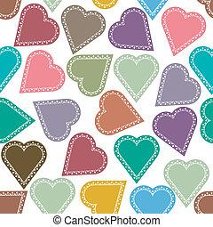 Un fondo con corazones