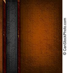 Un fondo con cuero marrón y negro. Ilustración del vector.