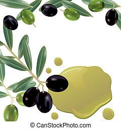Un fondo de aceite de oliva realista