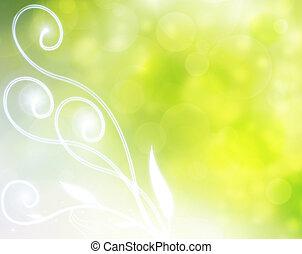 Un fondo de burbuja natural verde
