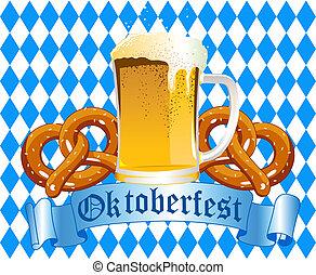 Un fondo de celebración de Oktoberfest