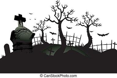 Un fondo de cementerio