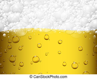 Un fondo de cerveza