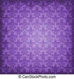 Un fondo de damasco púrpura