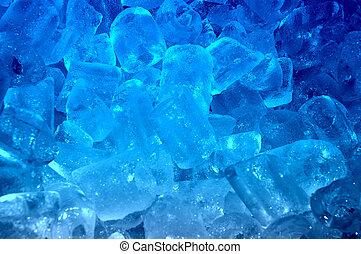 Un fondo de hielo azul