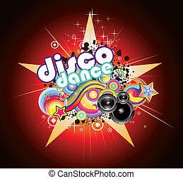Un fondo de música disco