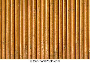 Un fondo de madera de bambú seco