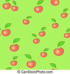 Un fondo de manzana inservible