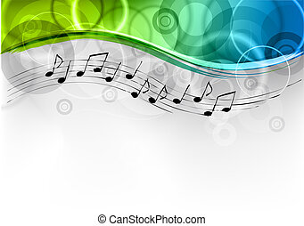 Un fondo de melodía