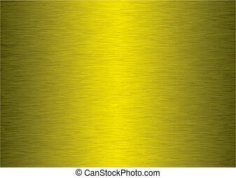 Un fondo de metal dorado